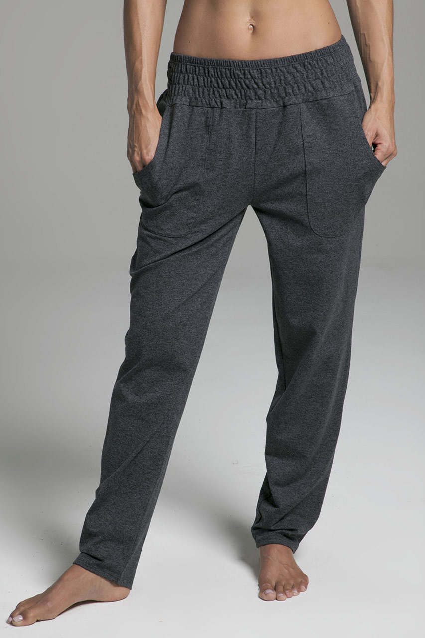 Knit Slouchy Pant- Charcoal Heather