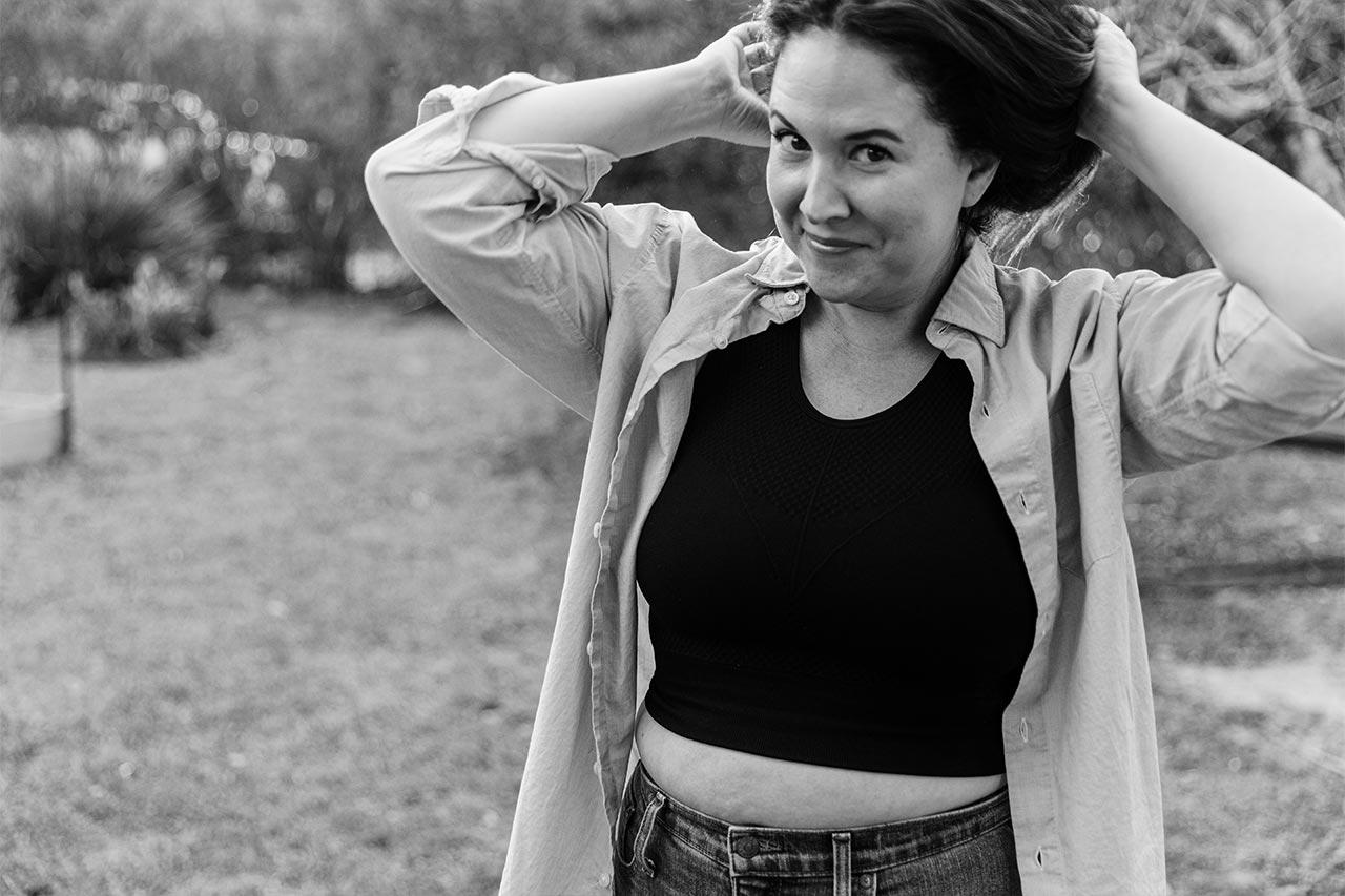 Kathryn Seamless Yoga Bra - Black