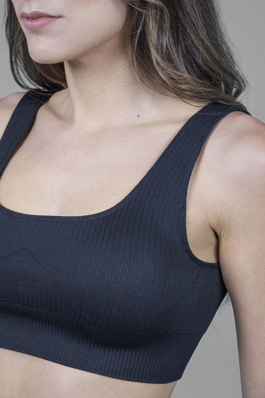 Ribbed Seamless Yoga Bra