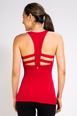 The Red Warrior T-Back Yoga Tank